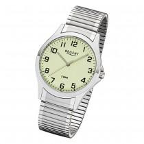 Regent Herren Armbanduhr Analog 1242425 Quarz-Uhr Metall silber UR1242425