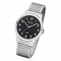Regent Herren Armbanduhr Analog 1242428 Quarz-Uhr Metall silber UR1242428