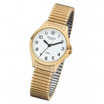 Regent Damen Armbanduhr Analog 2243489 Quarz-Uhr Metall gold UR2243489