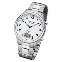 Regent Herren Armbanduhr Analog-Digital FR-275 Funk-Uhr Metall silber URBA444