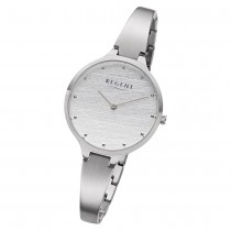 Regent Damen Armbanduhr Analog BA-559 Quarz-Uhr Edelstahl silber URBA559