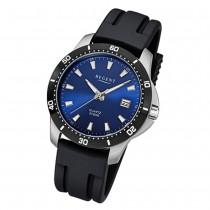 Regent Herren-Uhr 32-F-1028 Quarz Kautschuk-Band schwarz URF1028