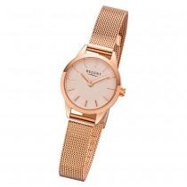 Regent Damen Armbanduhr Analog F-1167 Quarz-Uhr Metall rosegold URF1167