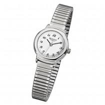 Regent Damen-Armbanduhr F-264 Quarz-Uhr Stahl-Armband silber URF264