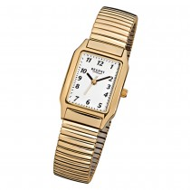 Regent Damen-Armbanduhr F-269 Quarz-Uhr Stahl-Armband gold URF269