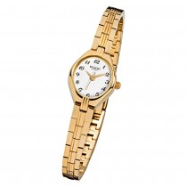 Regent Damen-Armbanduhr F-303 Quarz-Uhr Stahl-Armband gold URF303