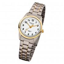 Regent Damen-Armbanduhr - Titan Damenuhren - Quarz silber gold Uhr URF428