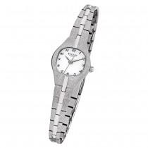 Regent Damen Armbanduhr Analog F-626 Quarz-Uhr Metall silber URF626