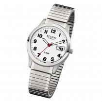 Regent Herren-Armbanduhr F-897 Quarz-Uhr Stahl-Armband silber URF897