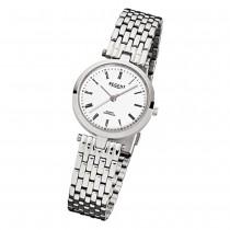 Regent Damen-Armbanduhr F-907 Quarz-Uhr Stahl-Armband silber URF907