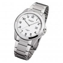 Regent Herren-Armbanduhr F-923 Quarz-Uhr Stahl-Armband silber grau URF923