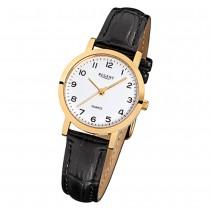 Regent Damen-Armbanduhr - Lederarmband - Quarz Leder schwarz URF937