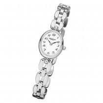 Regent Damen-Armbanduhr F-966 Quarz-Uhr Mini Stahl-Armband silber URF966