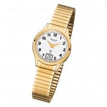 Regent Damen-Armbanduhr 32-FR-208 Funkuhr Edelstahl-Armband gold URFR208