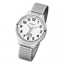 Regent Herren-Armbanduhr 32-FR-211 Funkuhr Edelstahl-Armband silber URFR211