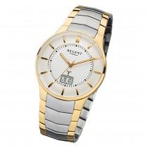 Regent Herren-Armbanduhr 32-FR-213 Funkuhr Edelstahl-Armband silber gold URFR213