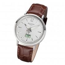 Regent Herren Armbanduhr Analog-Digital FR-243 Funk-Uhr Leder braun URFR243