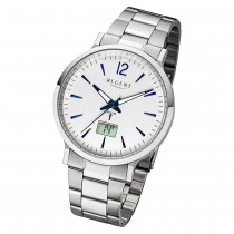 Regent Herren Armbanduhr Analog-Digital FR-246 Funk-Uhr Metall silber URFR246