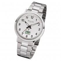 Regent Herren Armbanduhr Analog-Digital FR-248 Funk-Uhr Metall silber URFR248