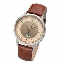 Regent Herren Armbanduhr Analog-Digital FR-249 Funk-Uhr Leder braun URFR249