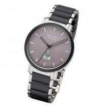 Regent Armbanduhr Analog Digital FR-253 Funk-Uhr Metall schwarz silber URFR253