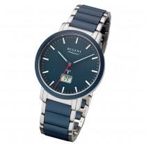 Regent Armbanduhr Analog Digital FR-254 Funk-Uhr Metall blau silber URFR254