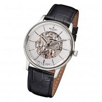 Regent Herren Armbanduhr Analog GM-1455 Handaufzug Leder schwarz URGM1455