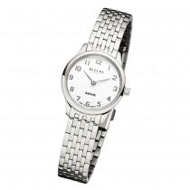 Regent Damen Armbanduhr Analog GM-1457 Quarz-Uhr Metall silber URGM1457