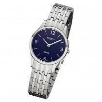 Regent Damen Armbanduhr Analog GM-1617 Quarz-Uhr Metall silber URGM1617