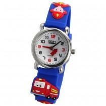 Tee-Wee Kinderuhr blau Feuerwehr 3D Kautschukband Kinder Uhren UW953B