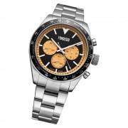 Fonderia Herren-Armbanduhr P-0A011UNC Quarz Edelstahl-Armband silber UAP0A011UNC