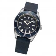 Fonderia Herren-Armbanduhr P-6A002UBB Quarz Leder-Armband schwarz UAP6A002UBB