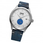 Fonderia Herren-Armbanduhr P-6A009USB Quarz Leder-Armband blau UAP6A009USB