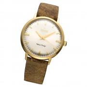 Fonderia Herren-Armbanduhr P-6G003US1 Quarz Leder-Armband braun UAP6G003US1