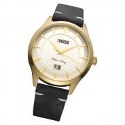 Fonderia Herren-Armbanduhr P-6G010US1 Quarz Leder-Armband schwarz UAP6G010US1