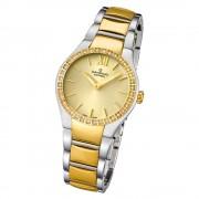 Candino Damen-Armbanduhr Timeless analog Quarz Edelstahl Gelbgold PVD UC4538/2