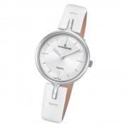 Candino Damen Armband-Uhr Lady Elegance C4648/1 Quarzuhr Leder weiß UC4648/1