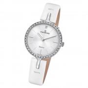 Candino Damen Armband-Uhr Lady Elegance C4651/1 Quarzuhr Leder weiß UC4651/1