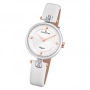 Candino Damen Armband-Uhr Lady Elegance C4658/1 Quarzuhr Leder weiß UC4658/1