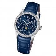 Candino Damen Armband-Uhr Lady Elegance C4684/2 Quarzuhr Leder blau UC4684/2