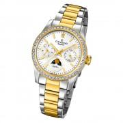 Candino Damen Armbanduhr Lady Elegance C4687/1 Edelstahl silber gold UC4687/1