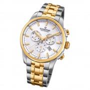 Candino Herren Armbanduhr Sport Chrono C4699/1 Edelstahl silber gold UC4699/1