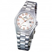 FESTINA Damen-Armbanduhr analog Quarz Edelstahl Klassik Uhr UF16375/7