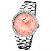FESTINA Damen-Armbanduhr Mademoiselle Analog Quarz Edelstahl silber UF16719/3