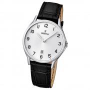 FESTINA Herren-Armbanduhr Klassik analog Quarz Leder UF16745/1