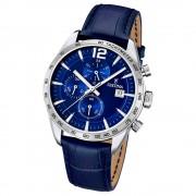 FESTINA Herren-Armbanduhr Sport Chronograph analog Quarz Leder UF16760/3