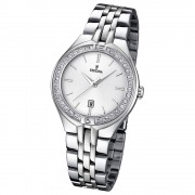 FESTINA Damen-Armbanduhr Mademoiselle Analog Quarz Edelstahl silber UF16867/1