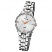 Festina Damen Armband-Uhr F20218/1 Quarz Edelstahl silber UF20218/1