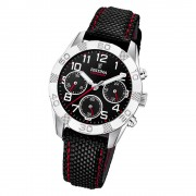 Festina Kinder Armbanduhr Junior Collection F20346/3 Leder/PU schwarz UF20346/3