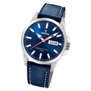 Festina Herren Armbanduhr Klassik F20358/3 Quarz Edelstahl blau UF20358/3
